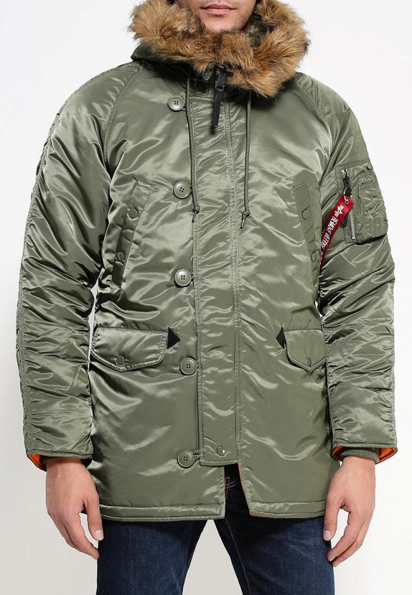 Утепленная куртка Alpha Industries 199.MJN31210C1..Sage/Orange: изображение 3