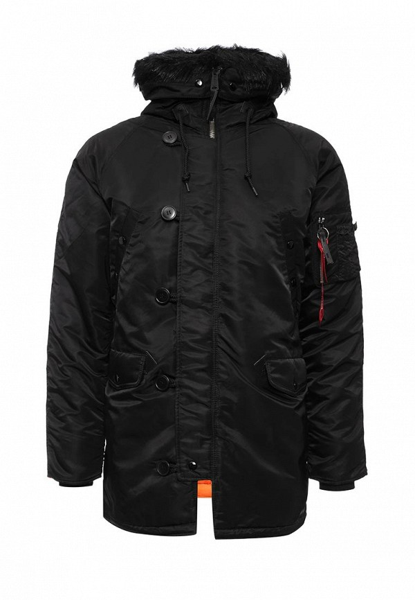 Утепленная куртка Alpha Industries (Альфа Индастриз) 199.MJN31210C1..Black/Orange: изображение 1