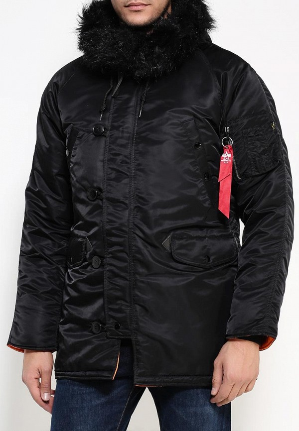Утепленная куртка Alpha Industries (Альфа Индастриз) 199.MJN31210C1..Black/Orange: изображение 3