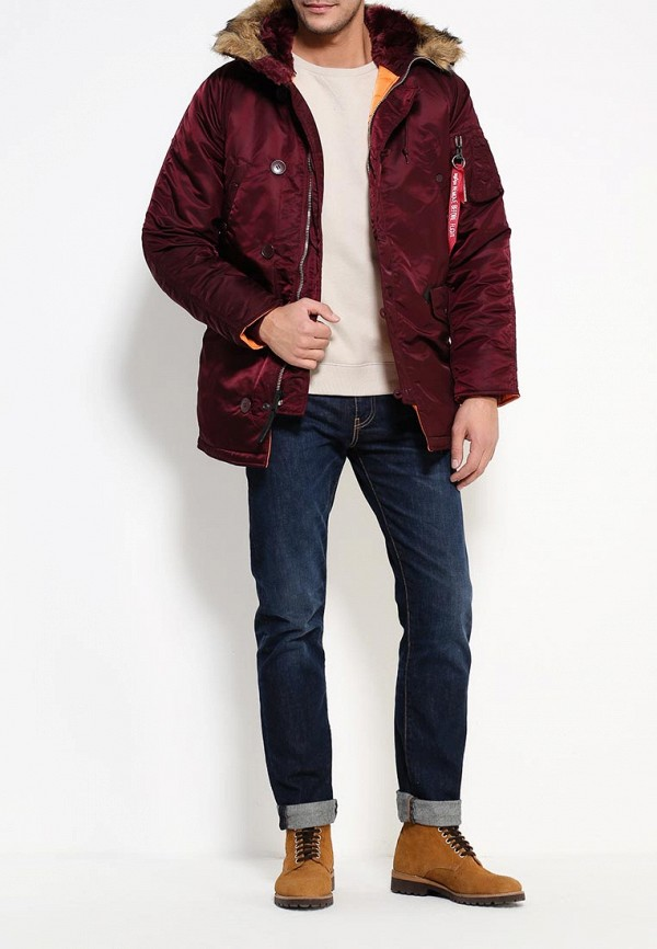 Утепленная куртка Alpha Industries 199.MJN31210C1..Maroon/Orange: изображение 2