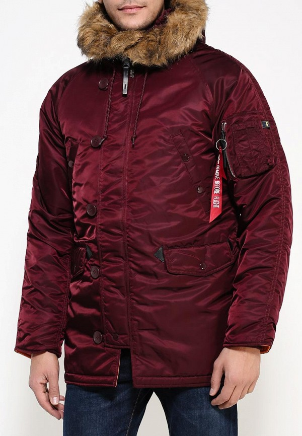 Утепленная куртка Alpha Industries (Альфа Индастриз) 199.MJN31210C1..Maroon/Orange: изображение 3