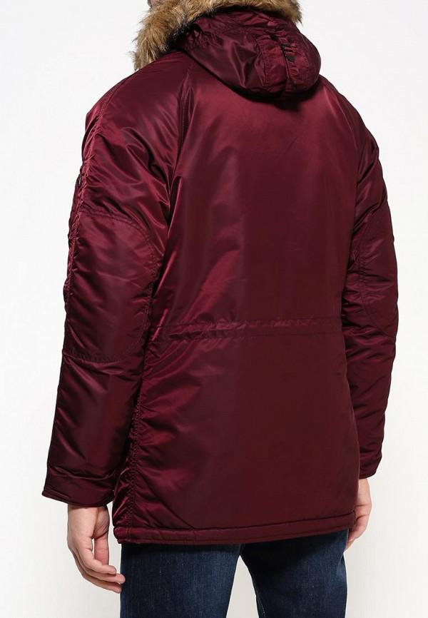 Утепленная куртка Alpha Industries (Альфа Индастриз) 199.MJN31210C1..Maroon/Orange: изображение 4