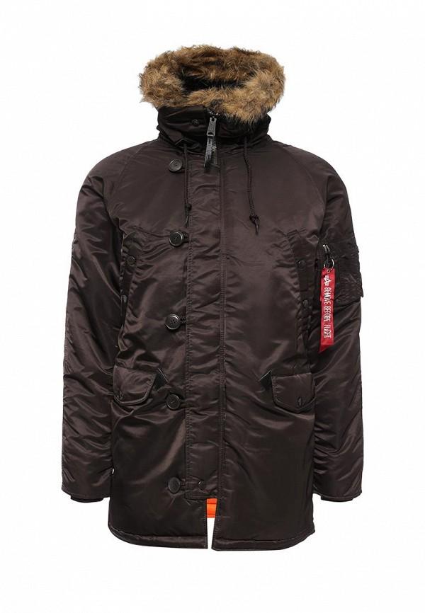 Утепленная куртка Alpha Industries (Альфа Индастриз) 199.MJN31210C1..Deep Brown/Orange: изображение 1