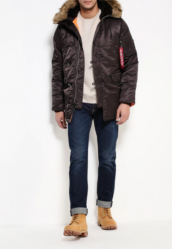 Утепленная куртка Alpha Industries (Альфа Индастриз) 199.MJN31210C1..Deep Brown/Orange: изображение 2