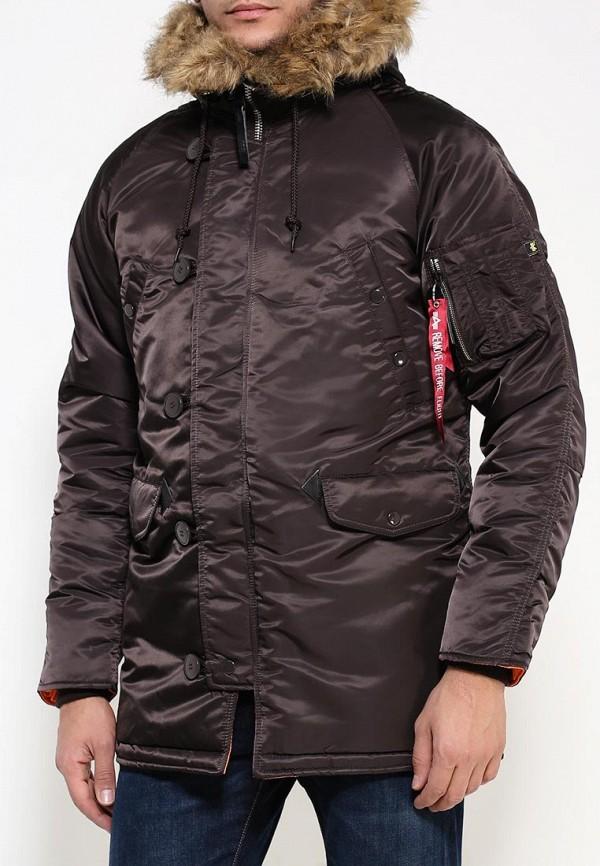 Утепленная куртка Alpha Industries (Альфа Индастриз) 199.MJN31210C1..Deep Brown/Orange: изображение 3