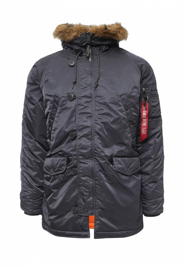 Куртка утепленная Alpha Industries 199.MJN31210C1..STEEL BLUE/ORANGE