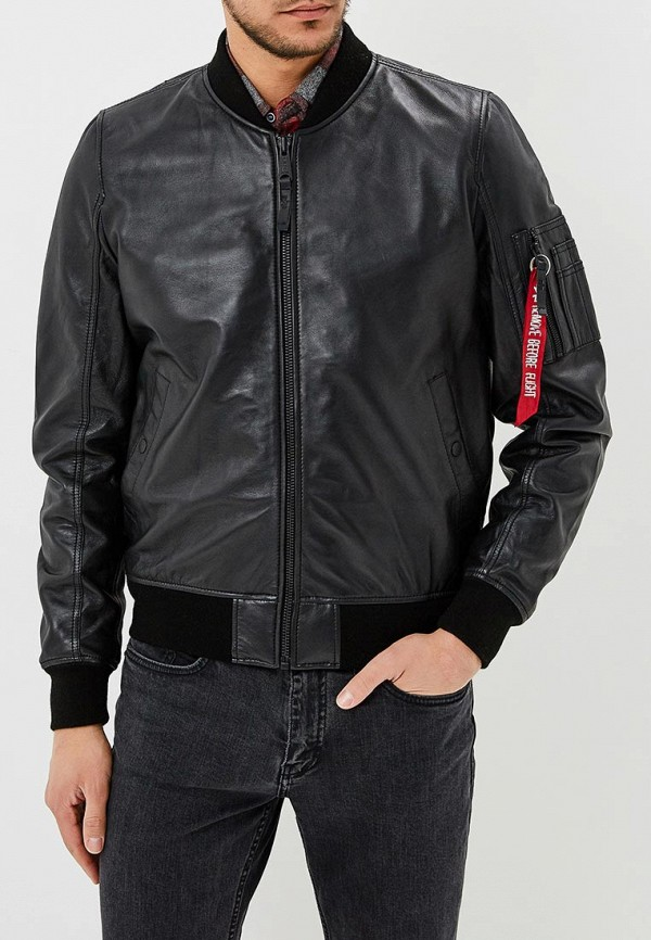 Куртка кожаная Alpha Industries Alpha Industries AL507EMZZR51 цена и фото
