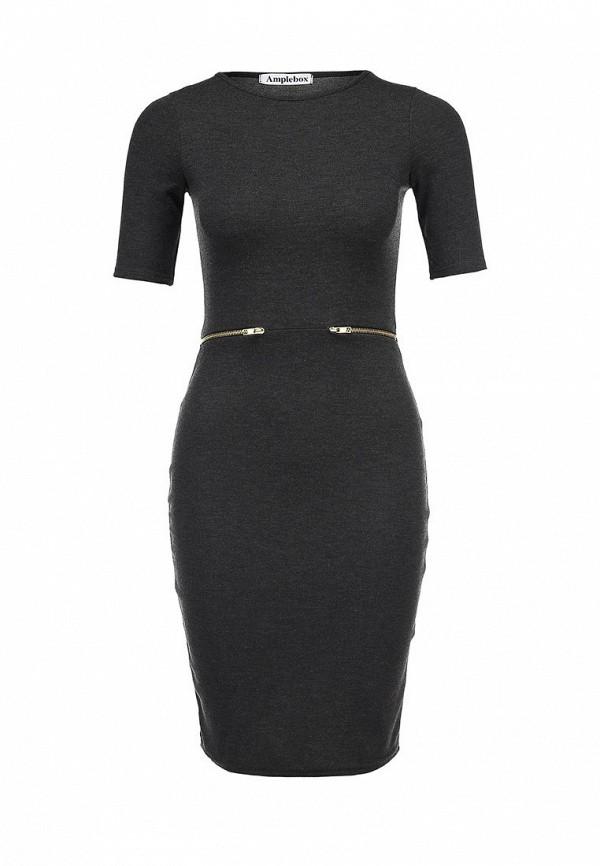 Платье-миди Amplebox 13053: изображение 1