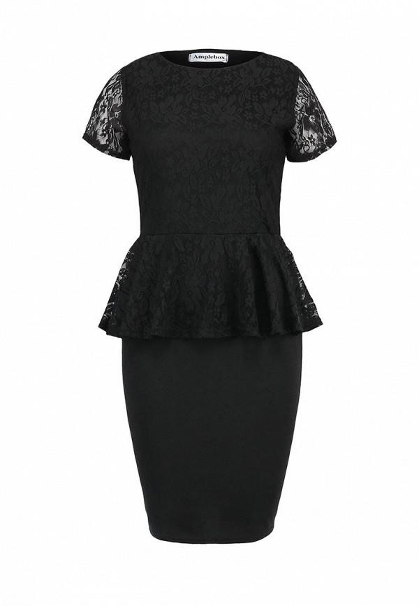 Платье-миди Amplebox 13604: изображение 1