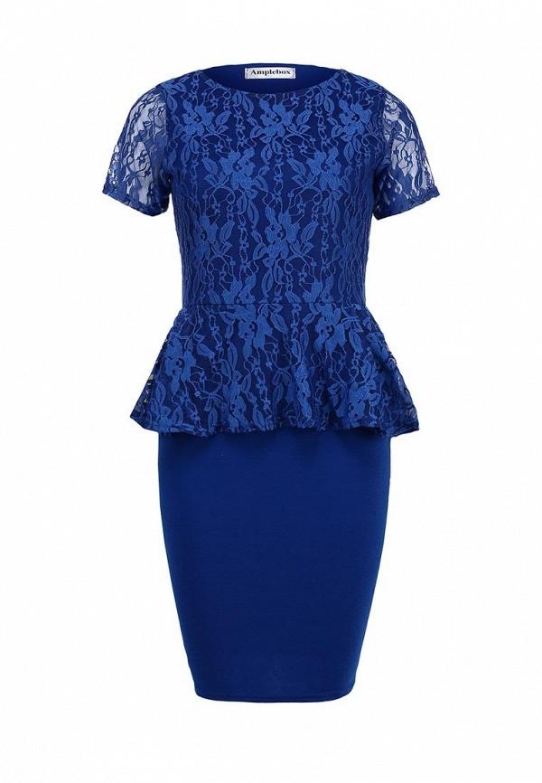 Платье-миди Amplebox 13604A: изображение 1