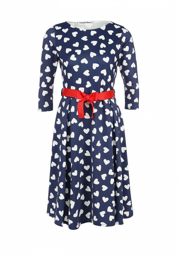 Платье-миди Amplebox 13668: изображение 1