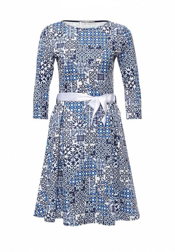 Платье-миди Amplebox 13668E: изображение 1