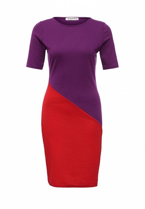 Платье-миди Amplebox 13776A: изображение 1