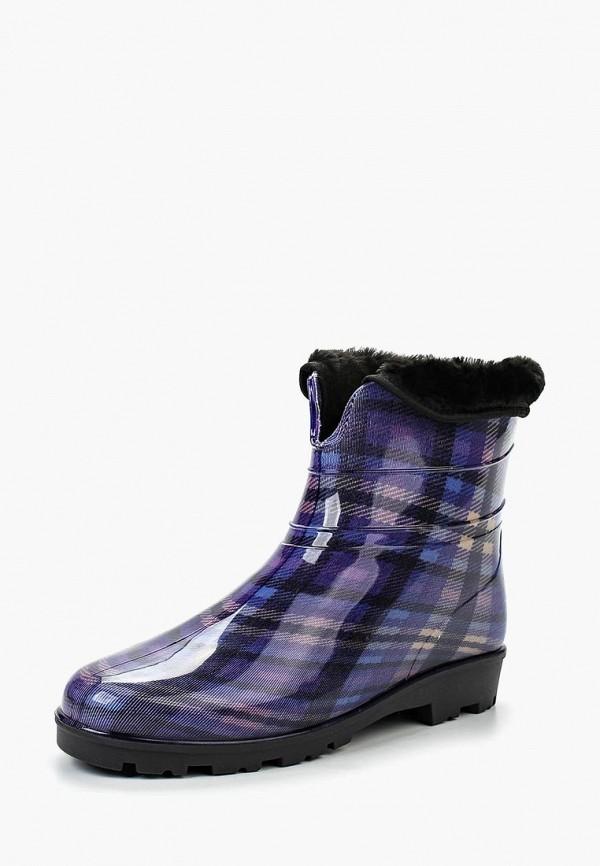 Резиновые полусапоги Sandra цвет фиолетовый сезон демисезон, зима страна Россия размер 36, 37, 39