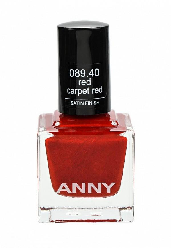 Лак для ногтей Anny тон 089.40 красный сатиновый