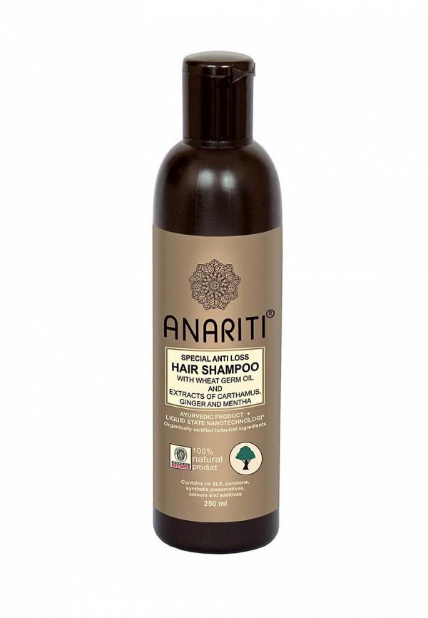 Шампунь Anariti специальный против выпадения волос с экстрактами дикого шафрана, имбиря и мяты