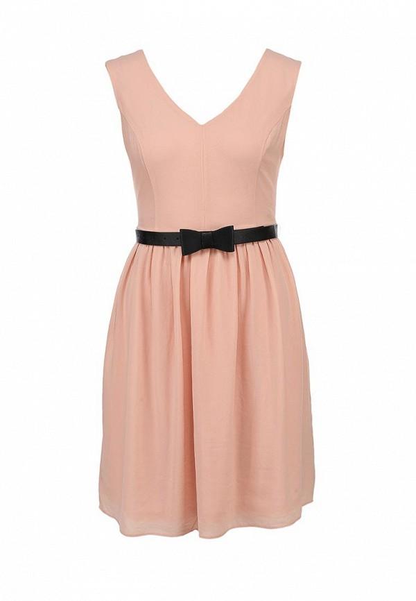 Платье Ark & co. Цвет: бежевый