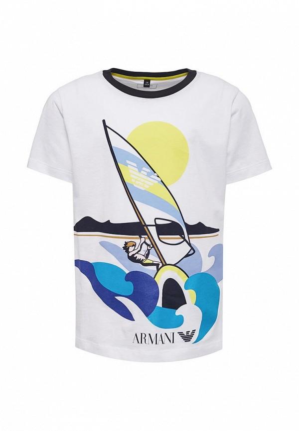 Купить Футболка Armani Junior, Armani Junior AR038EBZZO15, белый, Весна-лето 2018