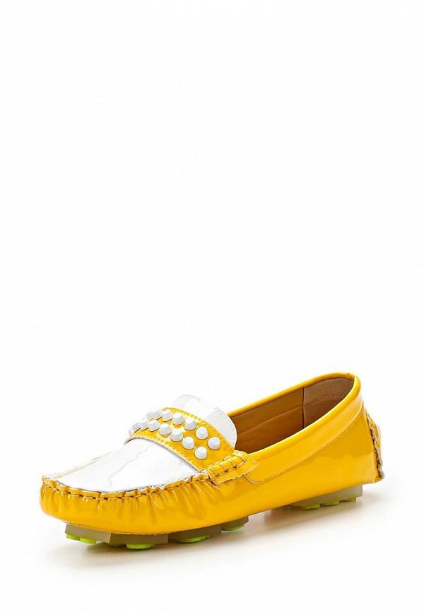 Женские мокасины ARZOmania F 218-3 yellow/white: изображение 1