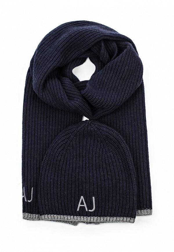 Комплект шапка и шарф Armani Jeans Armani Jeans AR411CMJRE28 шарф armani jeans синий