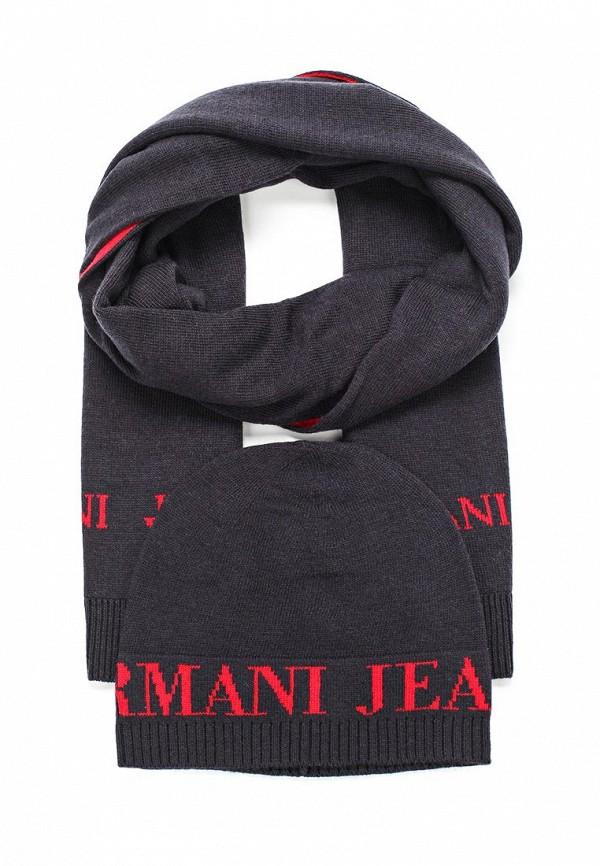 Комплект шапка и шарф Armani Jeans Armani Jeans AR411CMTXT08 шарф armani jeans синий