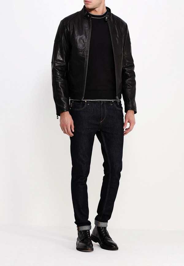 Кожаная куртка Armani Jeans (Армани Джинс) b6b29 md: изображение 3