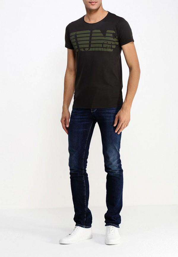 Футболка с надписями Armani Jeans (Армани Джинс) b6h74 br: изображение 3