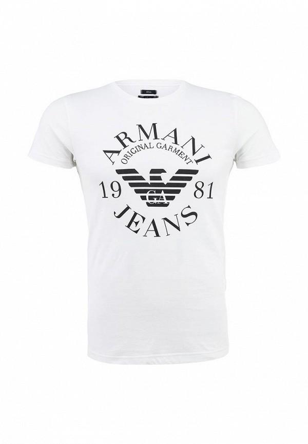 Футболка с надписями Armani Jeans (Армани Джинс) 06h99 ul: изображение 2