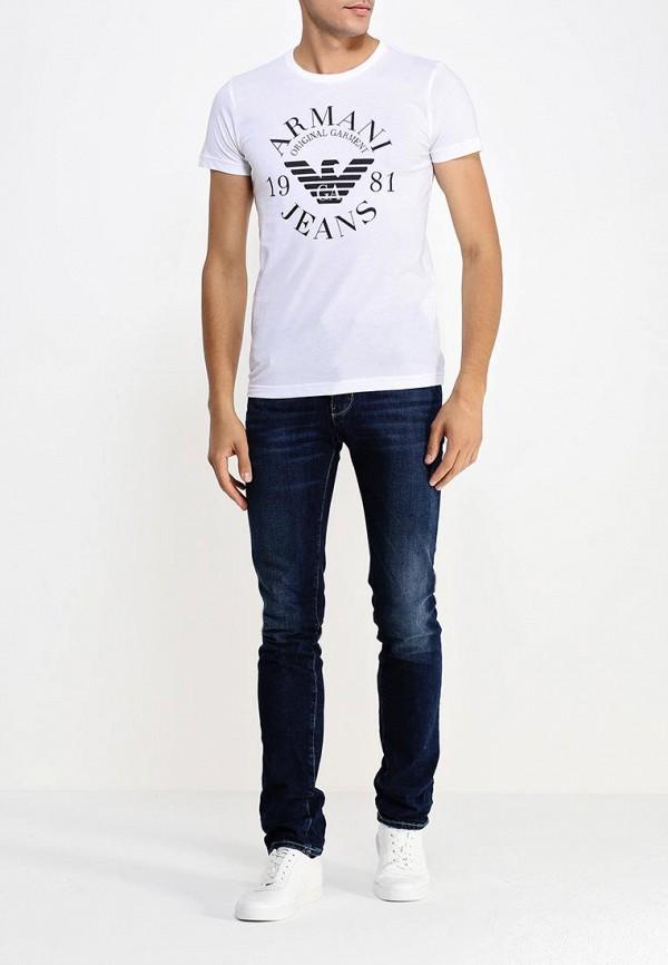 Футболка с надписями Armani Jeans (Армани Джинс) 06h99 ul: изображение 3