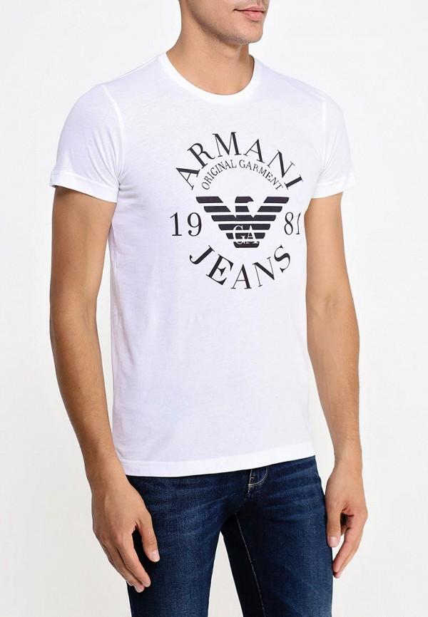 Футболка с надписями Armani Jeans (Армани Джинс) 06h99 ul: изображение 4