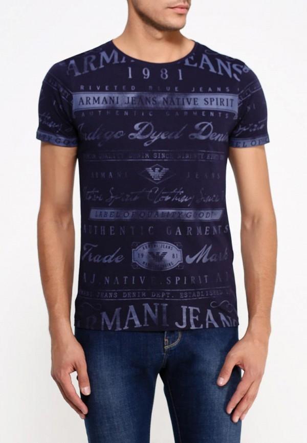 Футболка с надписями Armani Jeans (Армани Джинс) b6h72 by: изображение 3