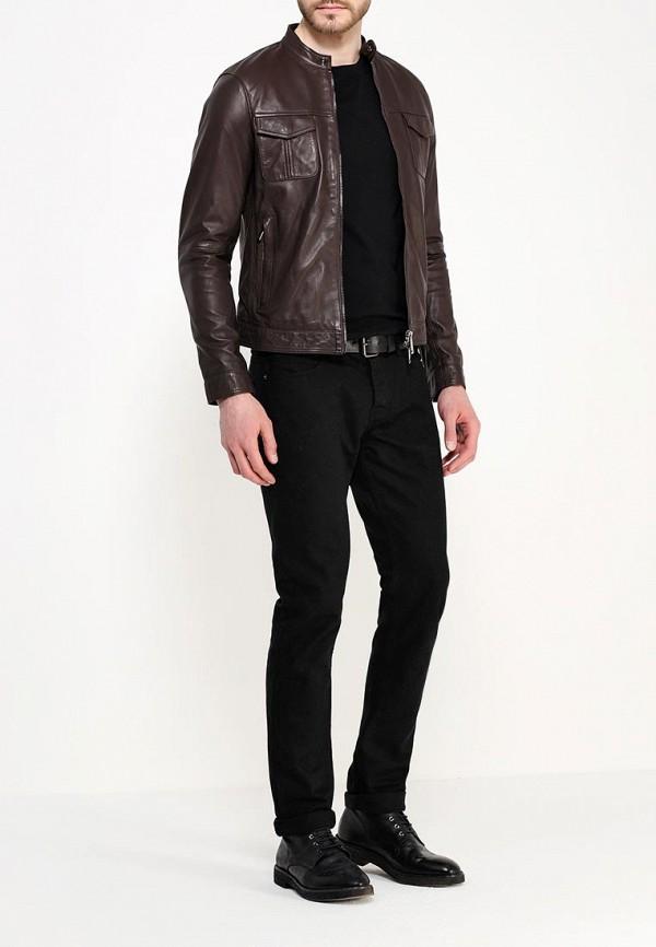 Кожаная куртка Armani Jeans (Армани Джинс) c6b19 JH: изображение 3