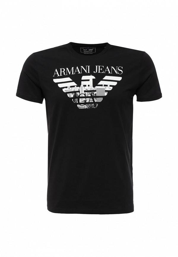 Футболка с надписями Armani Jeans (Армани Джинс) с6h71 FF: изображение 1