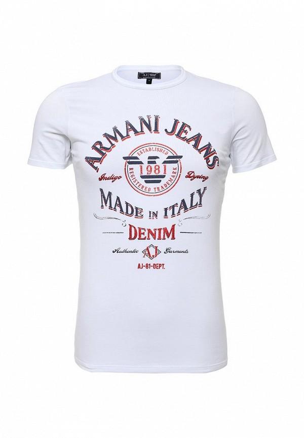 Футболка с надписями Armani Jeans (Армани Джинс) с6h10 NM: изображение 1