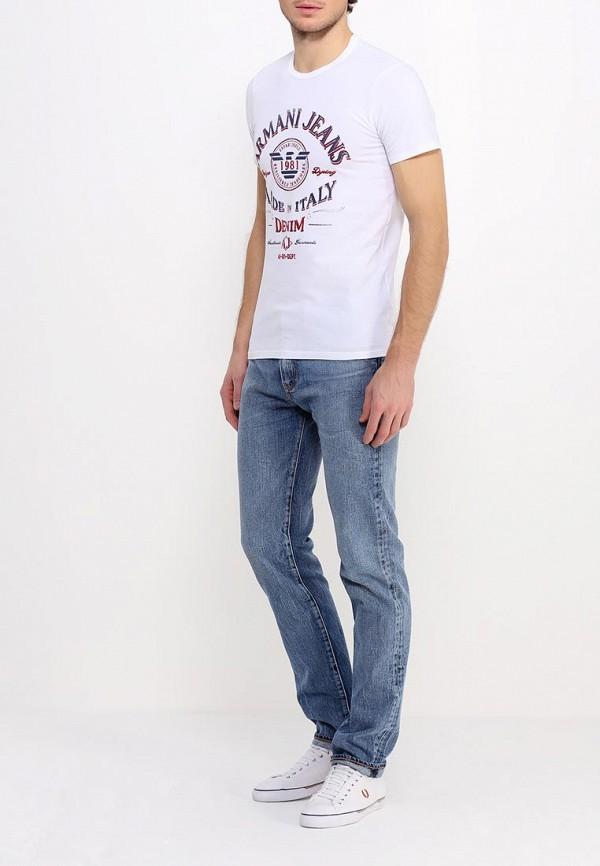 Футболка с надписями Armani Jeans (Армани Джинс) с6h10 NM: изображение 3