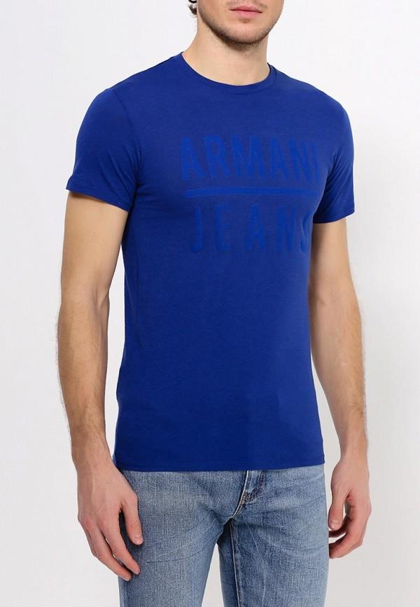 Футболка с надписями Armani Jeans (Армани Джинс) c6h20 LL: изображение 4