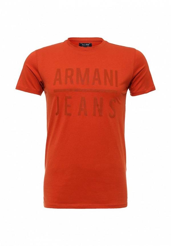 Футболка с надписями Armani Jeans (Армани Джинс) c6h20 LL
