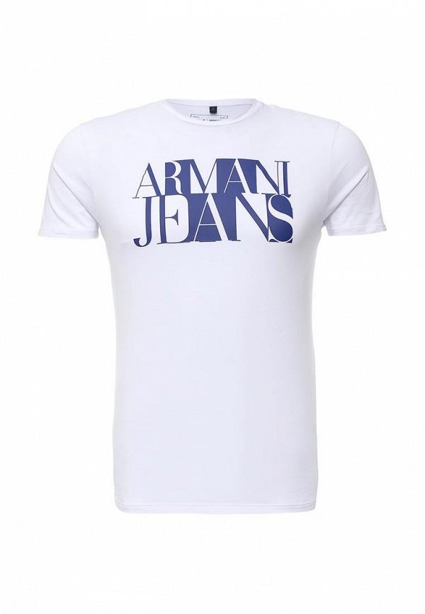 Футболка с надписями Armani Jeans (Армани Джинс) с6h72 FF: изображение 1