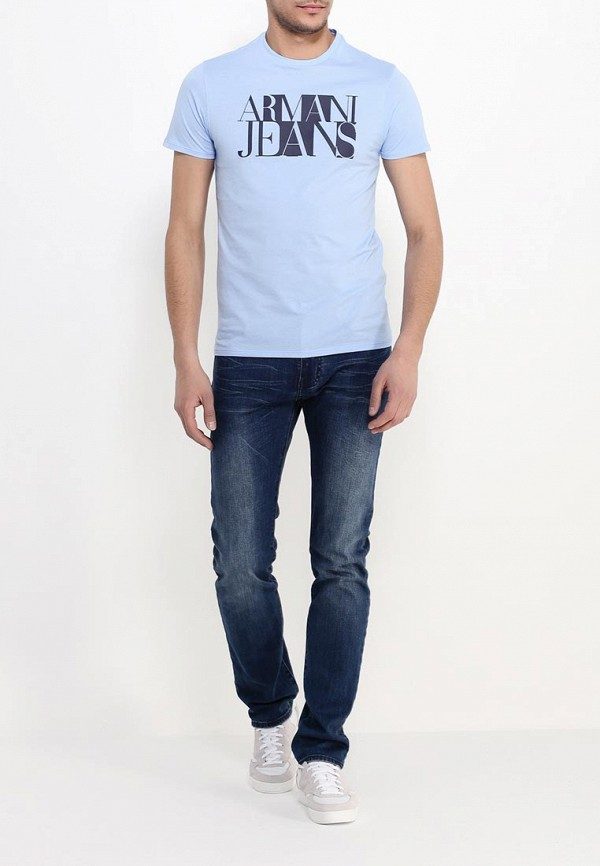 Футболка с надписями Armani Jeans (Армани Джинс) с6h72 FF: изображение 3