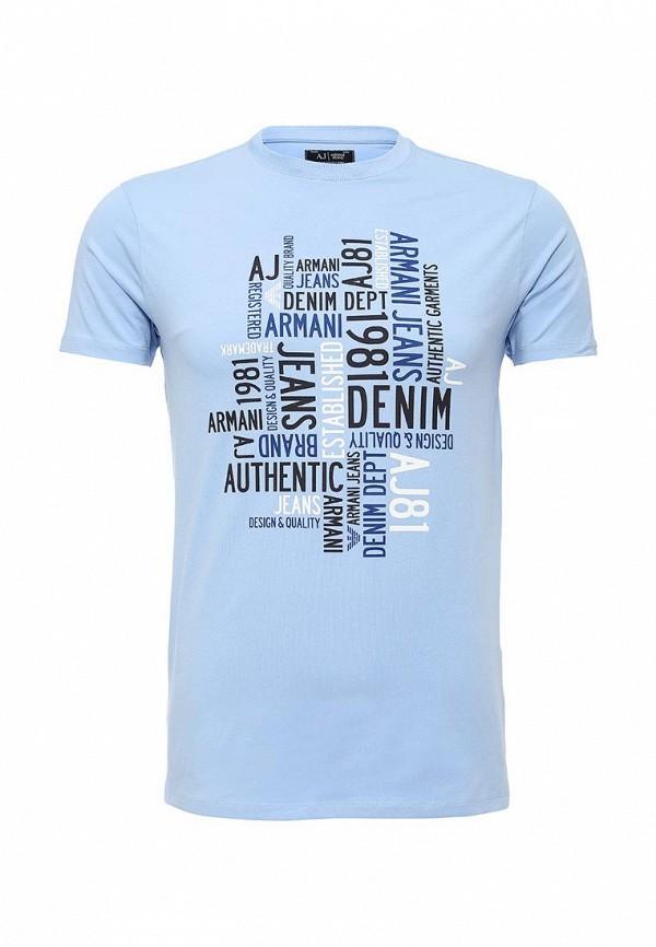 Футболка с надписями Armani Jeans (Армани Джинс) с6h14 DA: изображение 1