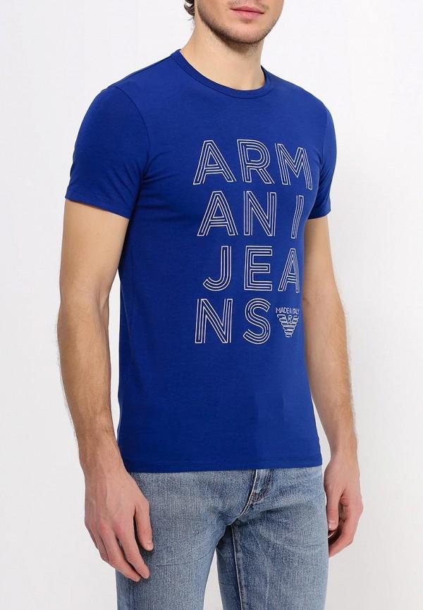 Футболка с надписями Armani Jeans (Армани Джинс) с6h19 NM: изображение 4
