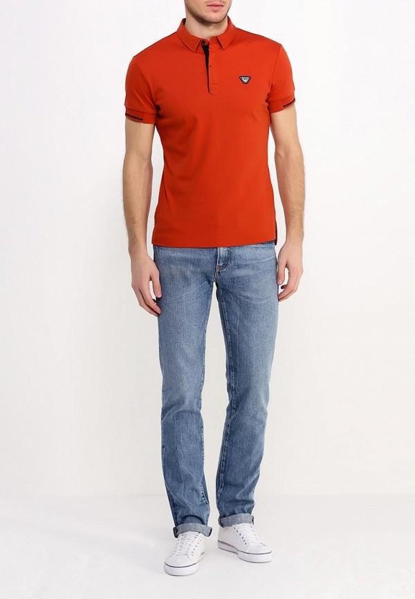 Мужские поло Armani Jeans (Армани Джинс) с6m05 BR: изображение 3