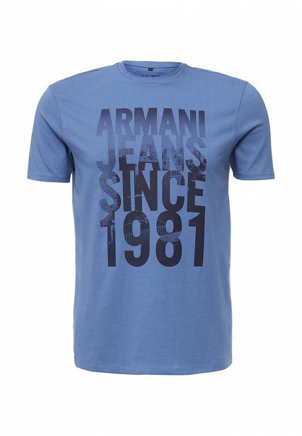 Футболка с надписями Armani Jeans (Армани Джинс) 6x6t14 6J00Z: изображение 2