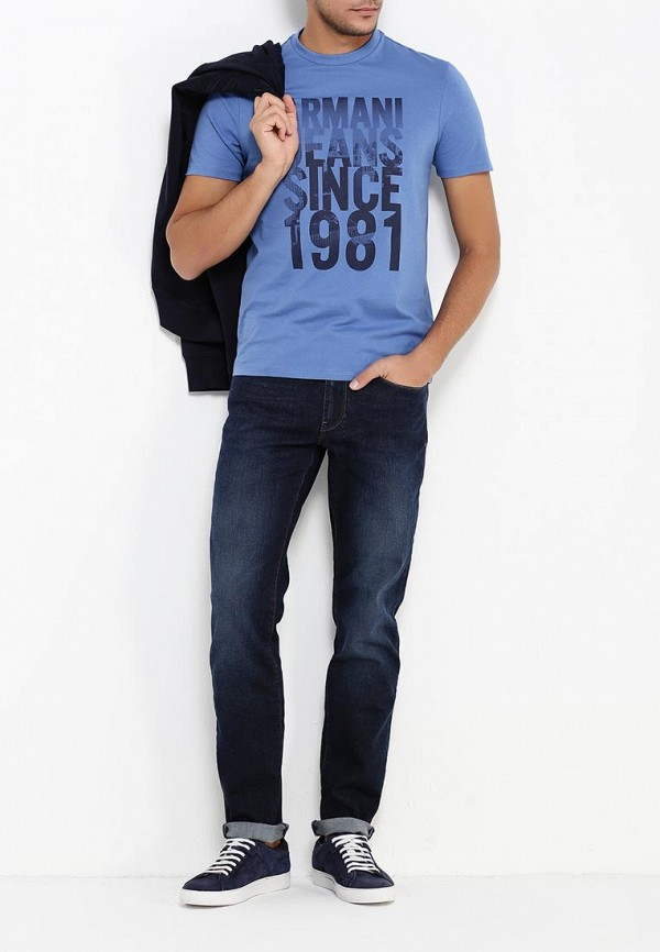 Футболка с надписями Armani Jeans (Армани Джинс) 6x6t14 6J00Z: изображение 3