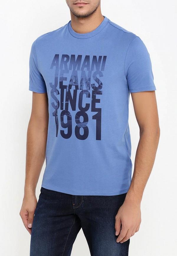 Футболка с надписями Armani Jeans (Армани Джинс) 6x6t14 6J00Z: изображение 4