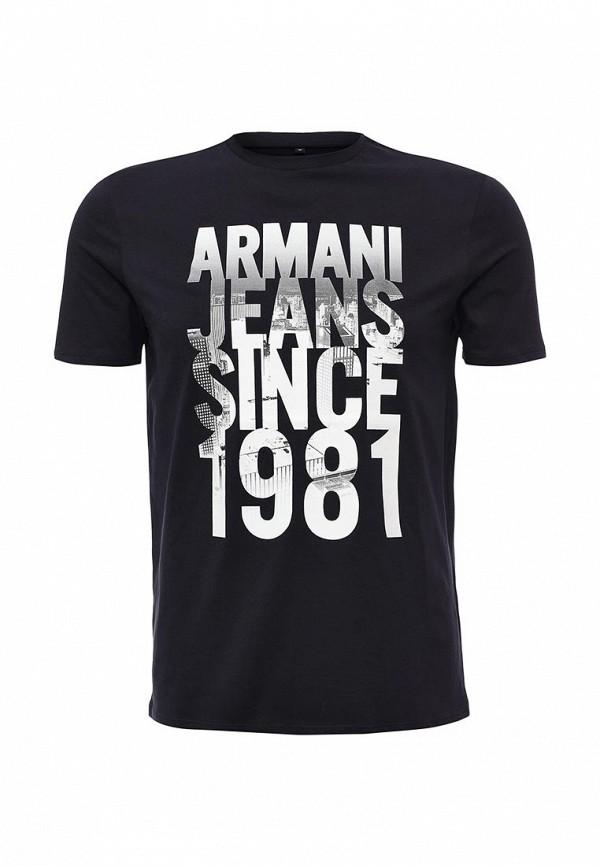 Футболка с надписями Armani Jeans (Армани Джинс) 6x6t14 6J00Z: изображение 7