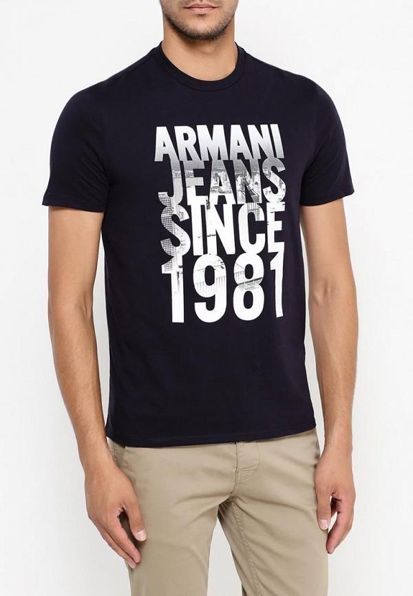 Футболка с надписями Armani Jeans (Армани Джинс) 6x6t14 6J00Z: изображение 9