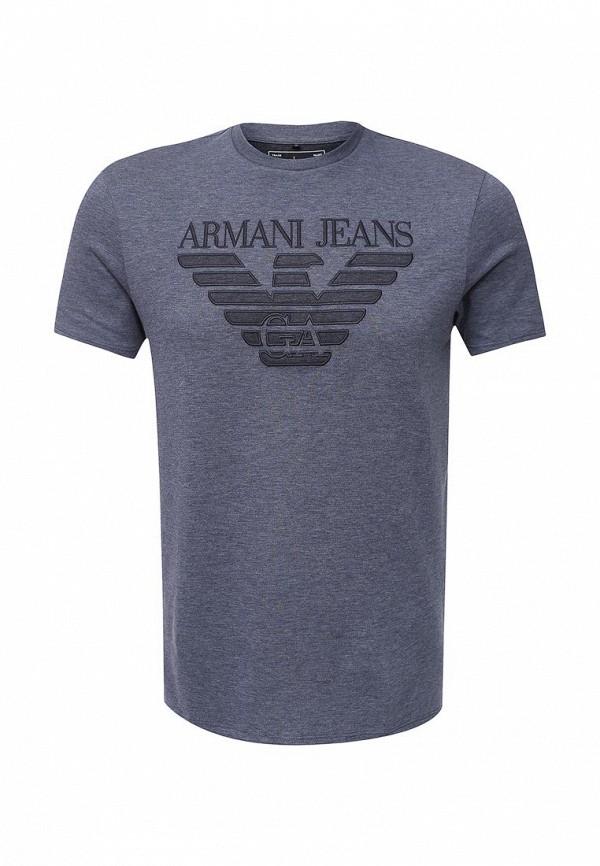 Футболка с надписями Armani Jeans (Армани Джинс) 6x6t57 6JPZZ: изображение 1