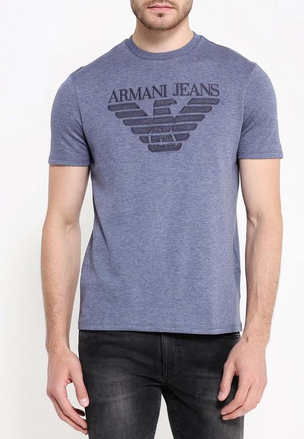 Футболка с надписями Armani Jeans (Армани Джинс) 6x6t57 6JPZZ: изображение 3