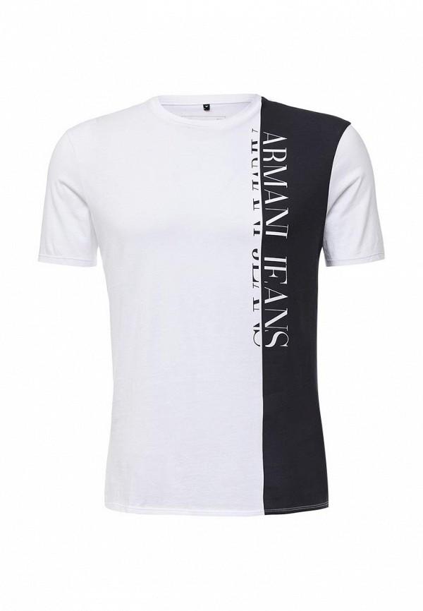 Футболка с надписями Armani Jeans (Армани Джинс) 6x6t54 6JPFZ